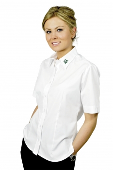 Damen Bluse 1/2 Arm, mit Stickerei